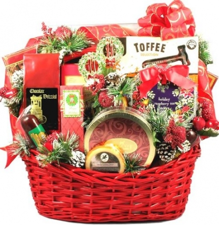 Gift Basket Village Christmas Party Deluxe Holiday Gift Basket