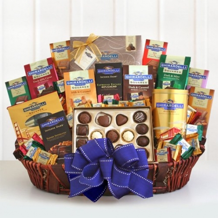 The XL Sweet Tooth | Gourmet Ghirardelli Gift Basket
