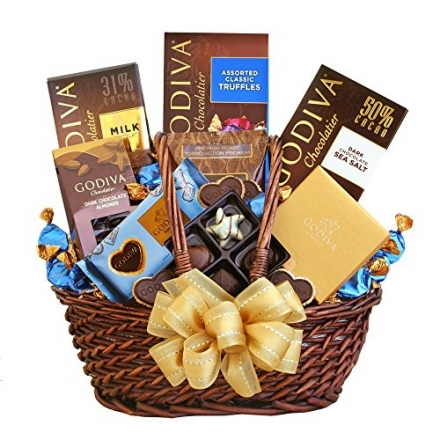 Godiva Chocolate and Coffee Christmas Gift Basket