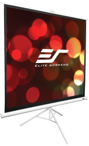 Elite Screens T119NWS1 Tripod Series Portable Projection Screen (119″ Diag. 1:1 84″Hx84″W)