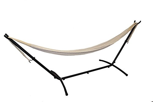 Hammocks Rada- Handmade Yucatan Hammock – Matrimonial Size Natural Color Plus Space Saving Stand – T