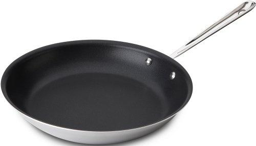 All-Clad 4112NSR2 Stainless Steel Tri-Ply Bonded Dishwasher Safe 12-Inch PFOA-free Non-Stick Fry Pan