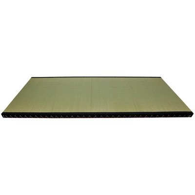 Oriental Furniture Great Good Simple Platform Bed, 6-Feet Traditional Japanese Tatami Grass Mat Floo