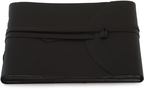 INDIARY photo album made of genuine leather and handmade paper – simple and noble – smooth leather-1