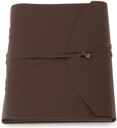 Indiary Photo Album Scrapbook Made of Genuine Buffalo Leather and Handmade Paper – Smooth Leather-13