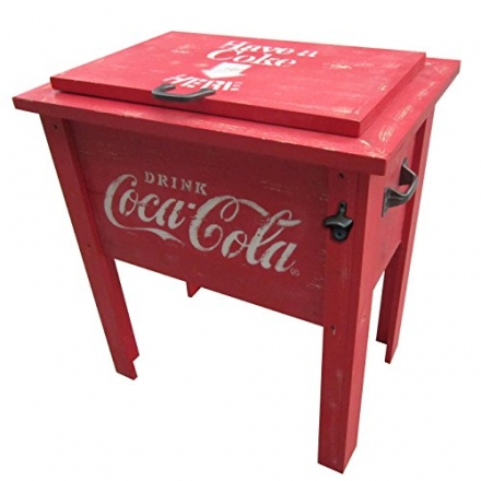 Leigh Country CP 98100 Coca Cola Vintage Cooler, 54-Quart, Red