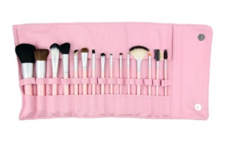 Crown Brush 15 Piece Brush Set, Perfectly Pink