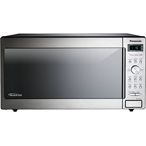 Panasonic NN-SD772-S Stainless Steel Genius Counter Top/Built-In Microwave Oven with Inverter Techno