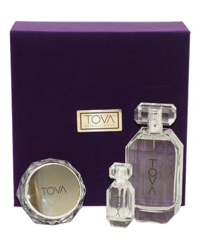 Tova Signature Platinum Perfume by Tova for Women. 3 Pc. Gift Set