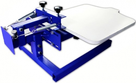 1 Color Simple Screen Press with Adjustable Pallet- Silk Screen Printing Equipment