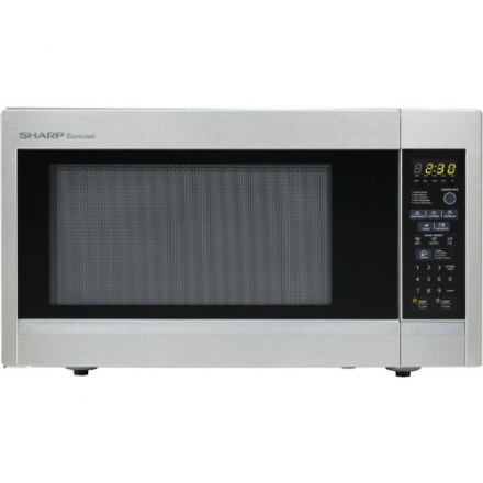Sharp R551ZS Countertop Microwave Oven, 1.8 Cubic Feet, Stainless Steel