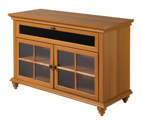 Home Source Industries TV13192 Hardwood TV Stand with Cabinets for Components, Birch Finish