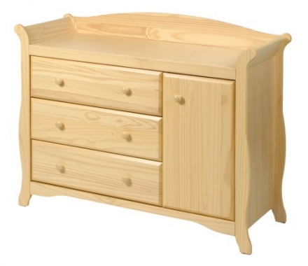 Stork Craft Aspen Combo Dresser Chest, Natural