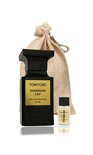 Tom Ford 'Shanghai Lily 1.7oz/50ml & Black Violet Mini 4ml' Gift Set in Burlap Bag