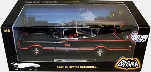 1966 TV Series Batmobile 1/18 Elite Edition Flat Black 1 of 5,000