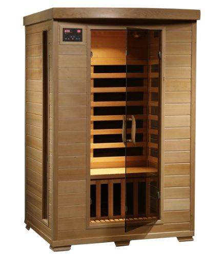 Radiant Saunas BSA2409 2-Person Hemlock Infrared Sauna with 6 Carbon Heaters