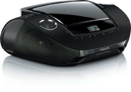 Philips Portable CD Soundmachine FM AM Radio Black USB Player Playback AZ1837. IGN Great holiday gif