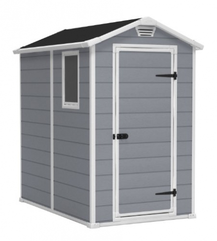 KETER Manor Outdoor Storage Shed, 4 by 6-feet (approx) – 51 x 76 x 78 inches