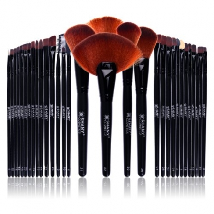 SHANY Super Professional Brush Set with Leather Pouch, 32 Count