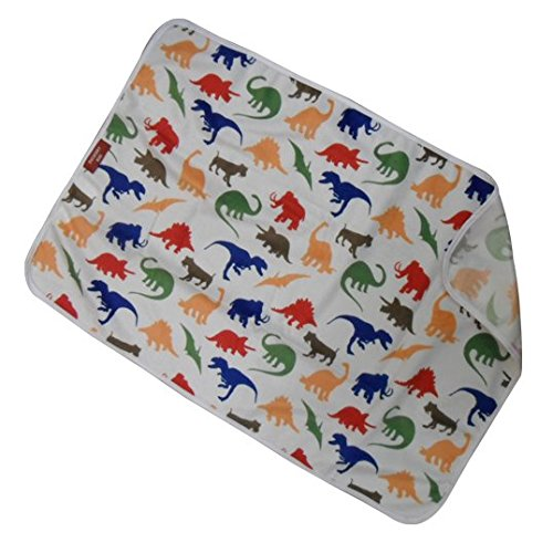 Duckery Kid Waterproof Baby Diaper Changing Pad in Vibrant Color for Home and Travel (dinosaur print