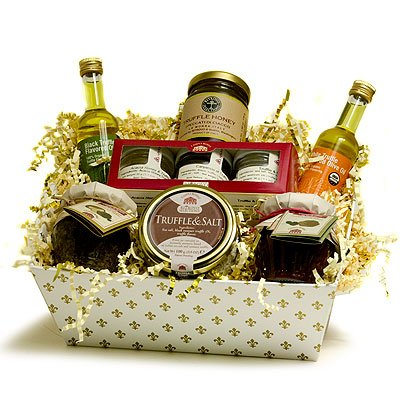 Ultimate Truffle Italian Gourmet Basket: Black & White Truffle Olive Oils, Truffle Salt, Truffle Spr