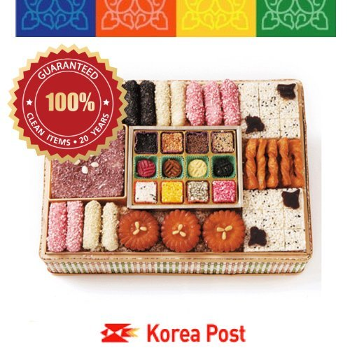 Eumsung Traditional Korean Cookie 1.7kg(in bamboo basket)