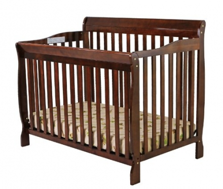 Dream On Me Ashton 4 in 1 Convertible Crib, Espresso