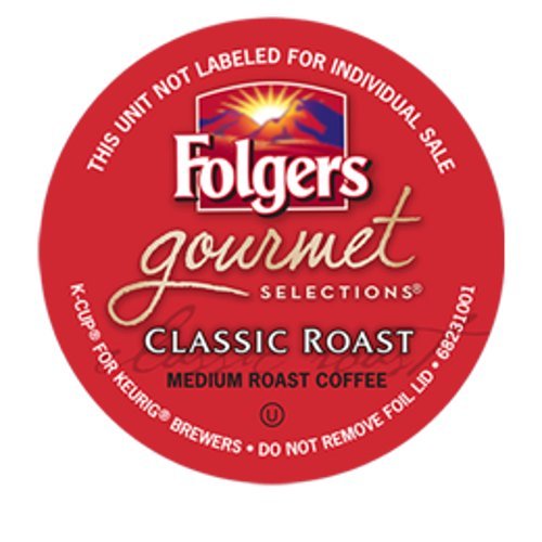 Folgers Gourmet Selections Classic Roast Coffee Keurig K-Cups, 144 Count