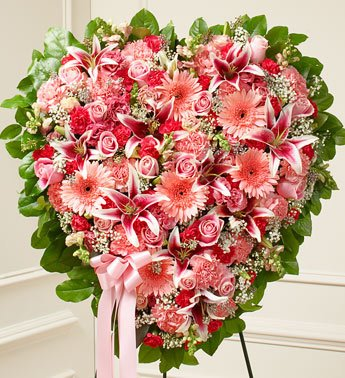 1-800-Flowers – Pink Mixed Flower Heart By 1800Flowers