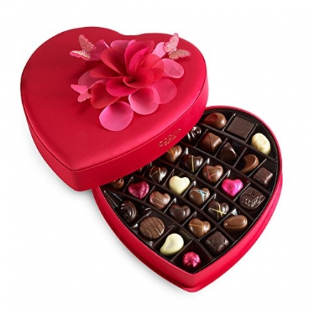 GODIVA Chocolatier 40 pc. Valentines Day Keepsake Chocolate Heart