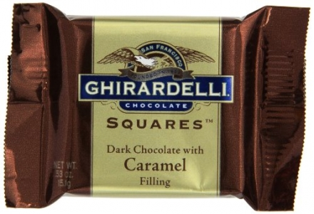 Ghirardelli Chocolate Squares 60% Cacao Dark & Caramel Filled, 0.53-Ounce Squares (Pack of 430)