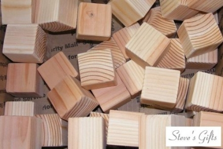 1.5-Inch Natural Unfinished Wood Blocks – Set of 100 Wooden Cubes (Each Is 1 1/2″ Square)