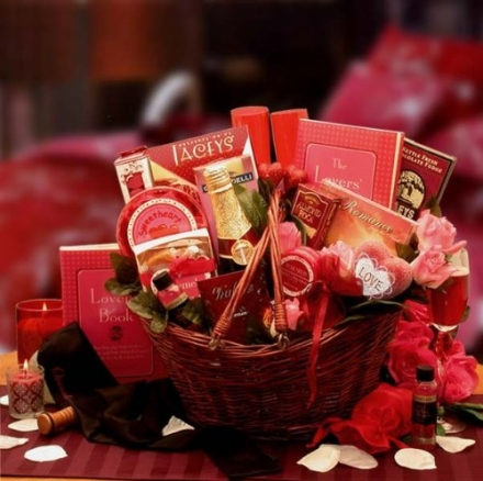 For Lovers Only! Romantic Valentine's Day Gift Basket for Couples