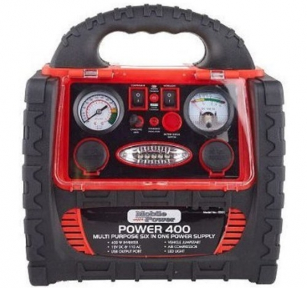 Mobile Power 2001 Instant Boost 400 60-in-1 Multipurpose Power Supply with Vehicle Jumpstart System