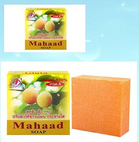 (10 Dozens) 75g. Vipada Mahaad Plus Glutathione Super Whitening 100% Nature Soap Anti Acne and Aging