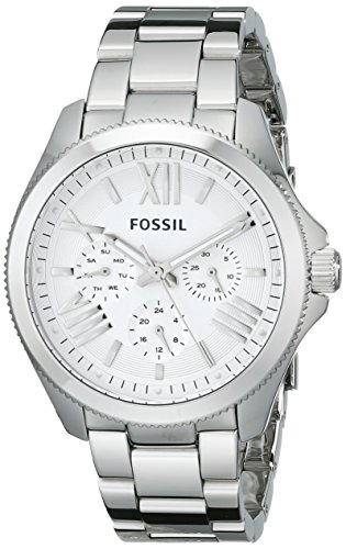 Fossil Women's AM4509 Cecile Multifunction Stainless Steel Watch – Silver-Tone