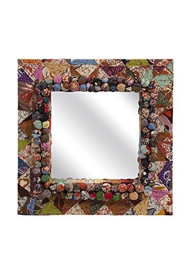 IMAX 89866 Alessandra Recycled Batik Fabric Mirror