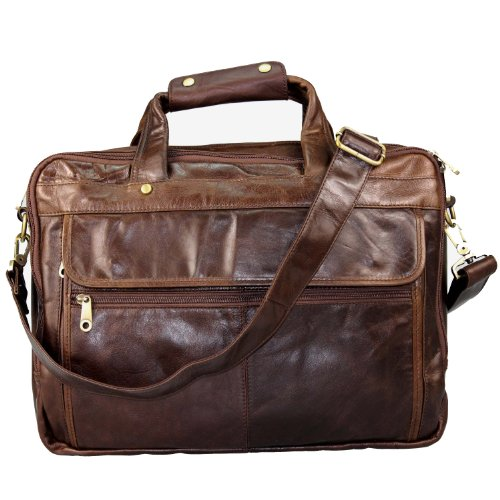 Blueblue Sky Men's Vintage Leather Laptop Computer Messenger Bags#7146c