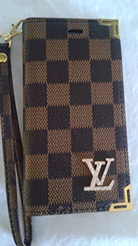 Luxury Leather Louis Vuitton Flip Wallet Cover for iPhone 6