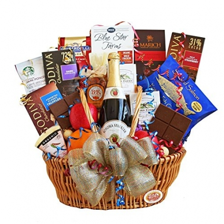 Festive Celebration Birthday Gift Basket for Men or Women