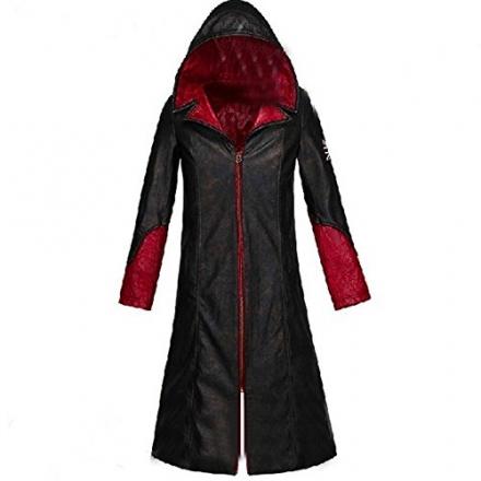 Tasso DMC 5 Devil May Cry Dante Red Black Coat Cosplay Costume-custom Made (Female-M)