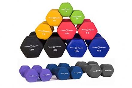 Fitness Republic Neoprene Dumbbell Pairs – Combo