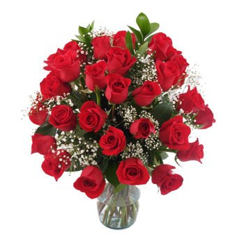 Gorgeous Three Dozen Rose Bouquet for Delivery-With Vase 40 Red Roses for Valentine's Day. Order Tod