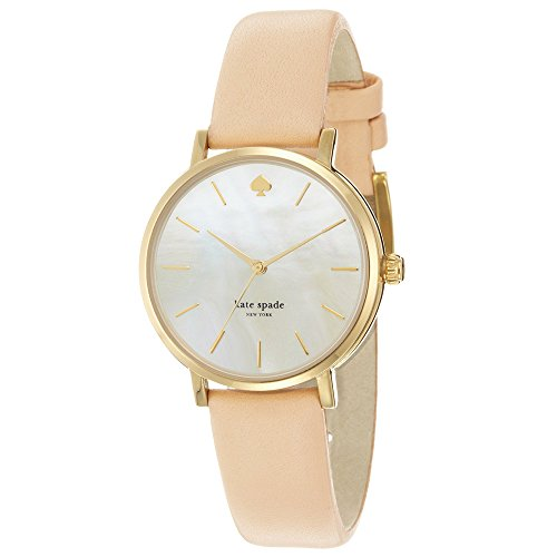 kate spade new york Women's 1YRU0073 Classic Gold Metro Vachetta Strap Watch