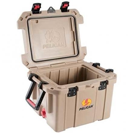 Pelican ProGear Elite Marine Deluxe Cooler with 2-Inch Insulation, Tan, 35-Quart