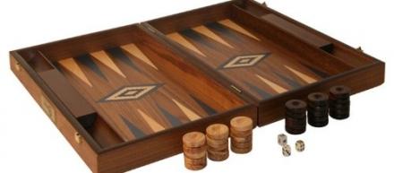 Walnut Backgammon Set, BLUE – Uber Games