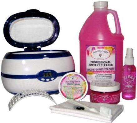 Sparkle Bright Products | VGT-2000 Digital Programmable Ultrasonic Home Luxury Jewelry Cleaner Kit