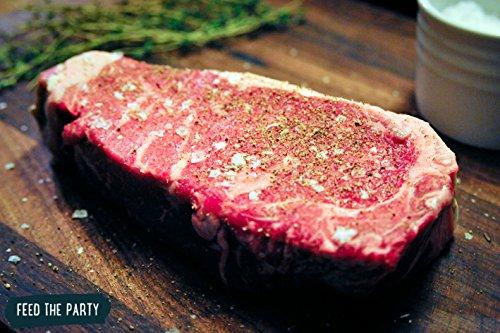 Feed The Party – USDA Choice New York Strip Steaks (8 oz) (QTY-20)