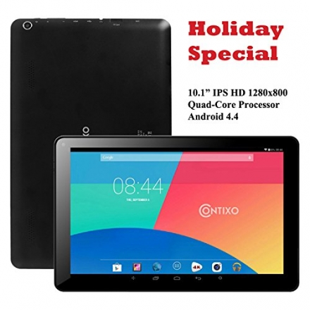 * 2015 Valentine's Day Special * Contixo Q103 10.1″ Quad Core Google Android 4.4 KitKat Tablet PC, I