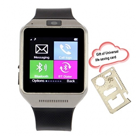 "RC GV08 Smart Bluetooth Watch Phone with 1.5"" Touch Screen 1.3MP camera Supports SIM Card Sync SMS"